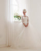Elegant 2019 Wedding Dress Full Sleeve Lace Appliques High Neck Tulle Puffy Ball Gown for Brides