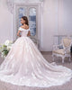 Elegant Lace Wedding Dresses Capped Sleeve V-Neck Tulle Lace Bridal Ball Gowns 2020