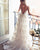 Champagne Wedding Gowns Lace Appliques A Line Spaghetti Straps Backless Bohemian Bridal Gown