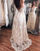 Sexy Beach Wedding Gowns Lace Appliques A Line Spaghetti Straps Backless Bohemian Bridal Gown 2020 new style