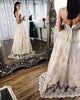 Sexy Beach Wedding Gowns Lace Appliques A Line Spaghetti Straps Backless Bohemian Bridal Gown