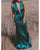 Sexy Plunge V-Neckline Sheath Prom Dresses Criss Back Elastic Satin Long Evening Gowns Hunter Green