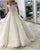 Elegant Wedding Dresses Ball Gown Cap Sleeves Lace Appliques Luxury Bridal Gown Pleats