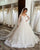 Full Sleeves Lace Appliques Wedding Dresses Ball Gown V-Neck Corset Back Bridal Dress New