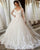 Full Sleeves Lace Appliques Wedding Dresses Ball Gown V-Neck Corset Back Bridal Dress New 2020