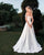 Fashion Simple Satin Wedding Dresses Off The Shoulder A-line Beach Wedding Gown 2020