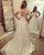 New Bohemian Wedding Dresses Sheer Lace Cap Sleeve Sweetheart Chiffon Beach Bridal Dress Flowers