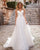 Sexy Organza A-line Wedding Dress Beaded Spaghetti Straps V-Neck Backless Long Wedding Gown