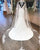 Elegant Satin & Tulle V-neck Lace Appliques Mermaid Wedding Dress With Shawl Perfect Beach Wedding Gown