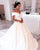 Vintage Lace Wedding Dresses Ball Gown Off The Shoulder V-Neck Princess Bridal Gowns