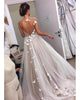 Sexy Backless Tulle Wedding Dress with Butterflies A-line Bridal Wedding Gowns Real Photos 2020 collections fashion dress
