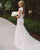 Elegant Mermaid Wedding Dress Lace Bodice V-Neck Open Back Cap Sleeve Beach Wedding Gown