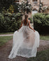 Delicate Backless Lace Beach Wedding Dresses V-Neck Sheer Tulle Bohemian Bridal Wedding Gown
