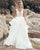 2020 Elegant Beach Wedding Dresses V-Neck Lace Appliques Organza Ruffles A-line Wedding Gown