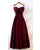 Burgundy Satin Prom Dresses with Spaghetti Straps Long Prom Homecoming Gowns with Big Bow 2020-new