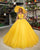 Sexy Yellow Organza Quinceanera Dresses Beaded Belt Sweetheart Sweet 16 Dress vestidos de quinceañera 2020-2021