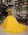 Sexy Yellow Organza Quinceanera Dresses Beaded Belt Sweetheart Sweet 16 Dress vestidos de quinceañera