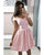 2020 Short Satin Homecoming Dresses Cap Sleeves Off The Shoulder Mini Prom Party Gowns