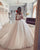 Elegant Tulle Wedding Dress Ball Gown Cap Sleeve Princess Bridal Wedding Gown New Arrival