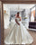 Simple Satin Ball Gown Wedding Dress Cap Sleeve 2020 Bridal Wedding Gown Fashion