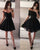 Popular Black Homecoming Dresses Sexy Short Party Dress