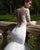 2020 Mermaid Wedding Dress Full Sleeve Sexy V-neck Lace Bridal Gowns Trumpet Tulle Train