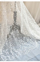 Sexy Mermaid Lace Wedding Dress Strapless See Through Bridal Gowns Long Train