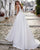 Elegant Wedding Dresses Beaded Belt V-Neck Satin A-line Bridal Gowns New Arrival