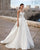 Chic Strapless Wedding Dress Satin A-line 2020 Sexy Bridal Wedding Gowns Beaded Rhinestones