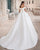 Off The Shoulder Satin Wedding Dresses Beaded Sequins 2020 Ball Gown Bridal Gowns Corset