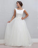 Elegant Ivory Wedding Dress Bow Belt Top Satin Backless Bridal A-line Wedding Gowns 2020