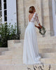 New 2020 A-line Wedding Dresses with V-Neck 3/4 Lace Sleeve Tulle Skirt Bridal Gowns