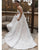 2020 Chic Lace Tulle Wedding Dresses V-Neck Appliqued A-line Bridal Gowns Sheer Back #south #african #saudia