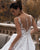 2020 Chic Lace Tulle Wedding Dresses V-Neck Appliqued A-line Bridal Gowns Sheer Back