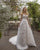 Elegant A-line Tulle Layered Wedding Dresses V-Neck Appliqued Lace Bridal Gowns Spaghetti Straps