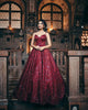 Gorgeous Burgundy Prom Dresses Sparkly Sequins Luxury Sexy Ball Gown for Prom Party 2020 2021 spring luxurious