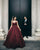 Gorgeous Burgundy Prom Dresses Sparkly Sequins Luxury Sexy Ball Gown for Prom Party
