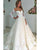 Fashion 2020 Lace Wedding Dresses 3/4 Sleeve Sexy V-Neck Bridal Gowns Appliques