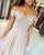 Beautiful Light Champagne Prom Dresses Lace Appliques Off The Shoulder Long Homecoming Dress