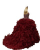Burgundy Quinceanera Dresses Beaded Shine Rhinestones Puffy Ruffles Ball Gown Sweet 16 Dress vestidos de quinceañera