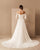 Off The Shoulder Beach Wedding Dresses Summer Long Sleeve Chiffon Bridal Wedding Gown