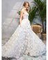 Beautiful Wedding Dresses 3D Lace Flowers Sexy Beach Boho Bridal Gowns with Spaghetti