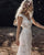 Bohemian Wedding Dresses V-Neck Sheath Bridal Gowns Backless Sexy Beach Wedding Gowns
