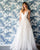 Simple A-line Wedding Dresses Organza Ruffles Sexy V-Neck Bridal Wedding Gowns 2021