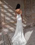 2021 Simple Wedding Dresses New Silk Satin Sexy Backless Mermaid Wedding Gown