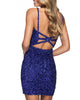 2021 Sexy Short Homecoming Dresses V-Neckline Backless Sheath Sparkly Prom Party Gowns