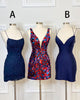 Sexy Royal Blue Satin Homecoming Dresses Cross Criss Strips Sexy Lace Homecoming Party Gowns short prom dress cocktail dress