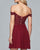 Off The Shoulder Burgundy Homecoming Dresses Sexy A-line Lace Chiffon Prom Party Gowns