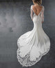 Sexy Mermaid Wedding Dress Outdoors Open Back Full Sleeve Summer Bridal Gowns with Train