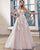 Princess Lace Wedding Dresses Appliqued See Through Bateau Neck Tulle A-line Bridal Gowns Outdoors